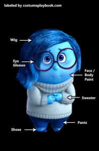 Dress up as Sadness - Inside Out Pixar