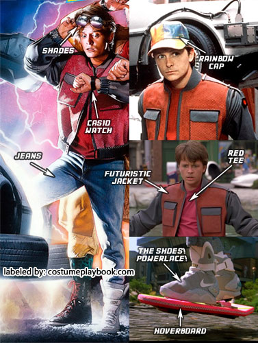 Marty McFly Back to the Future 2 Costume