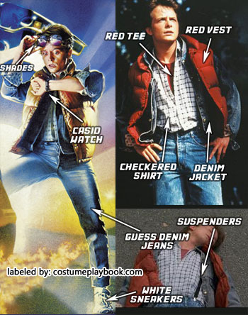 Marty McFly Outfit Back to the Future 1