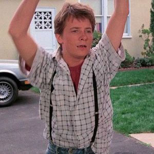 Marty McFly Suspenders Getup Back to the Future 1