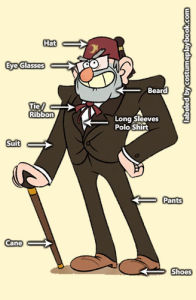 Costume for Grunkle Stan from Gravity Falls