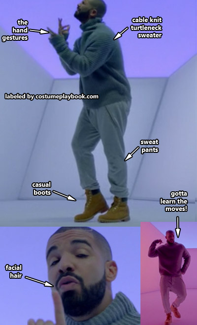 drake hotline bling MTV meme costume