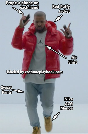 drake hotline bling mtv outfit shoes