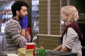 ravi purple gloves - izombie - morgue