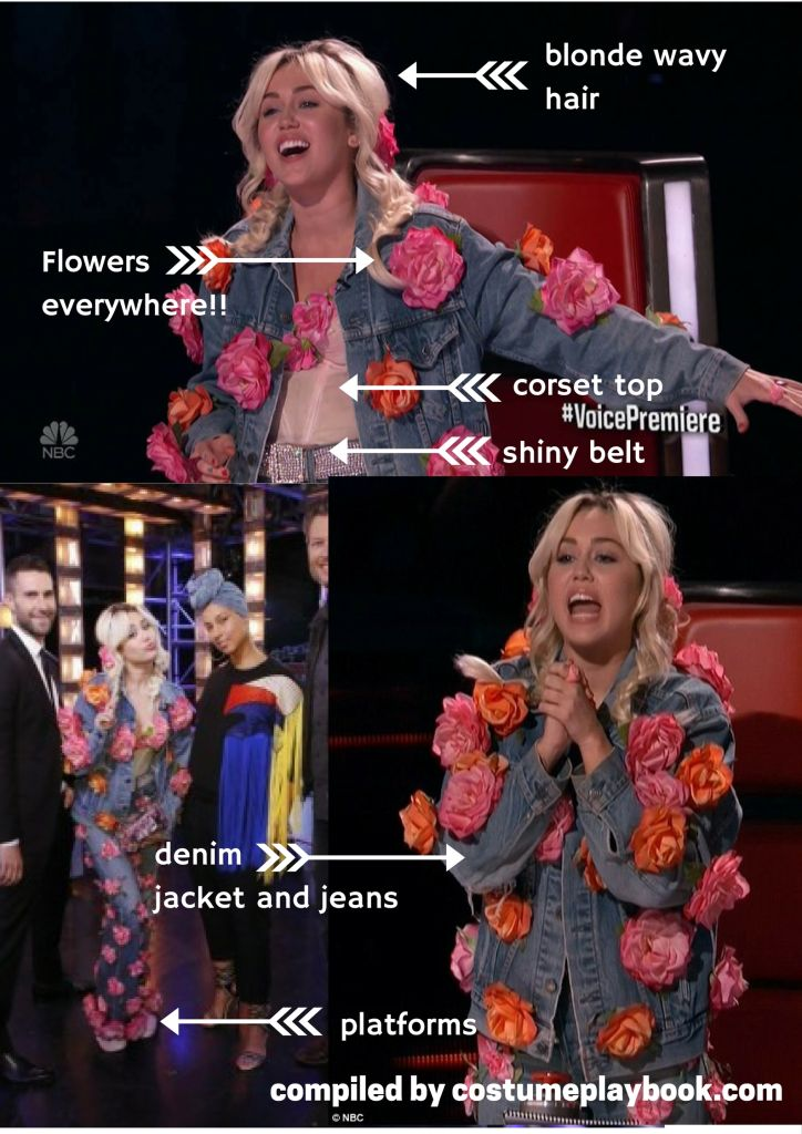 miley cyrus the voice costume