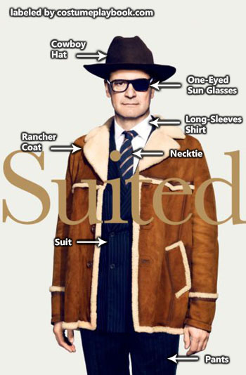 Harry Hart Costume - Kingsman Golden Circle Colin Firth