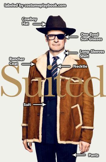 Harry Hart Costume - Kingsman Golden Circle Colin Firth