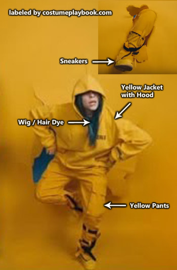 billie eilish yellow costume